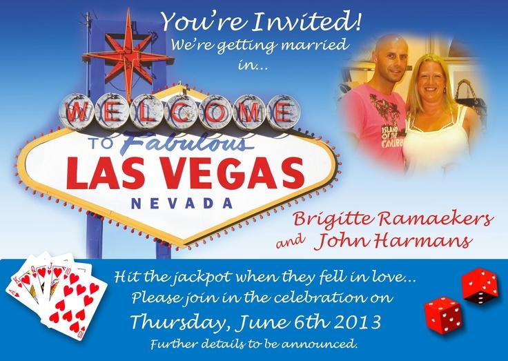 Our Las Vegas wedding invitation