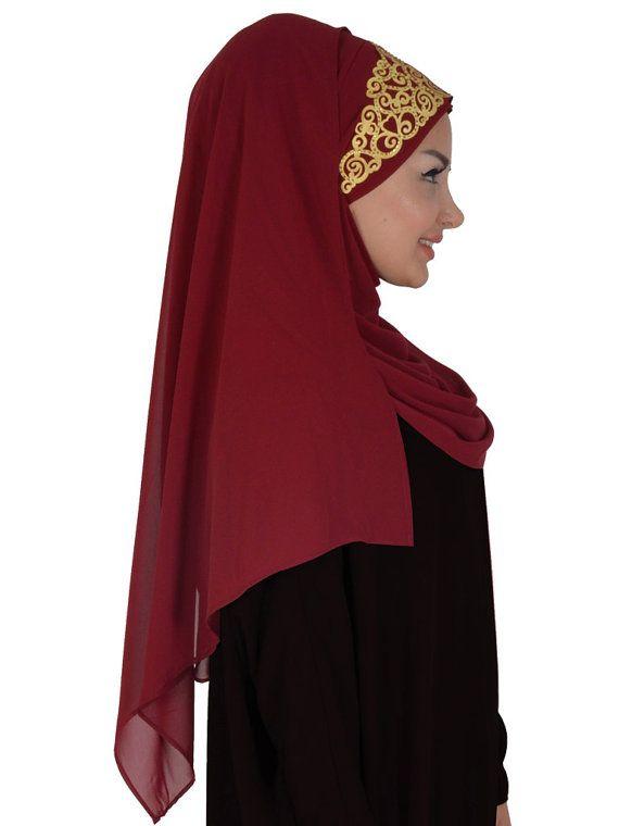 Chiffon Express Hijab Code:CPS-0005 Muslim Women by HAZIRTURBAN