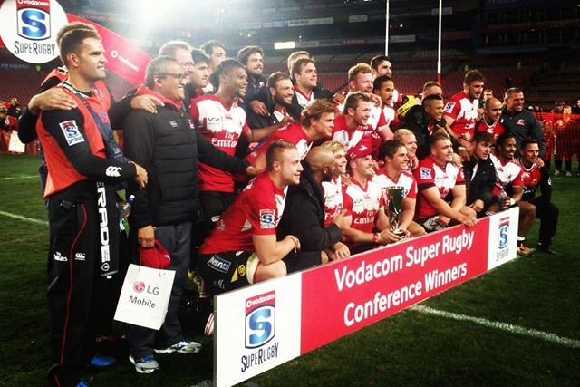 For the first time in history, the Golden Lions Rugby Union ends first in their Super Rugby Conference!  We are incredibly proud of our men in red!  #Lions4Life #EmiratesLions #LionsPride #SuperRugby #Winners #ConferenceWinners