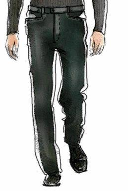 EL BAÚL DE LAS COSTURERAS: Pantalón para hombre línea recta ancho