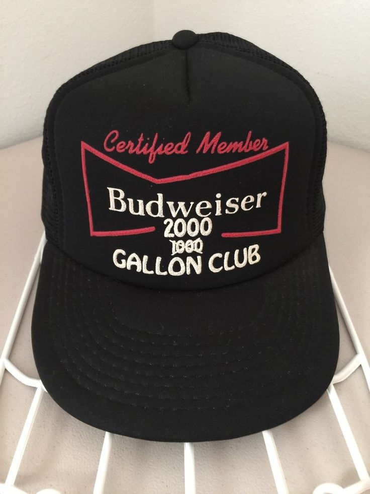 Certified Member Budweiser 2000 GALLON CLUB Black Mesh Snapback Trucker Hat  Beer. GorrasMalla NegraGorras De CamioneroSnapbackCerveza 19449c5e9fd