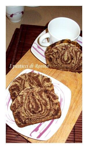 Pluncake marmorizzato al pistacchio e cacao