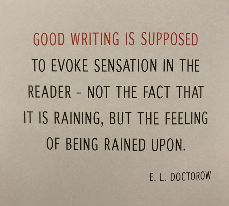 Good writing is supposed...