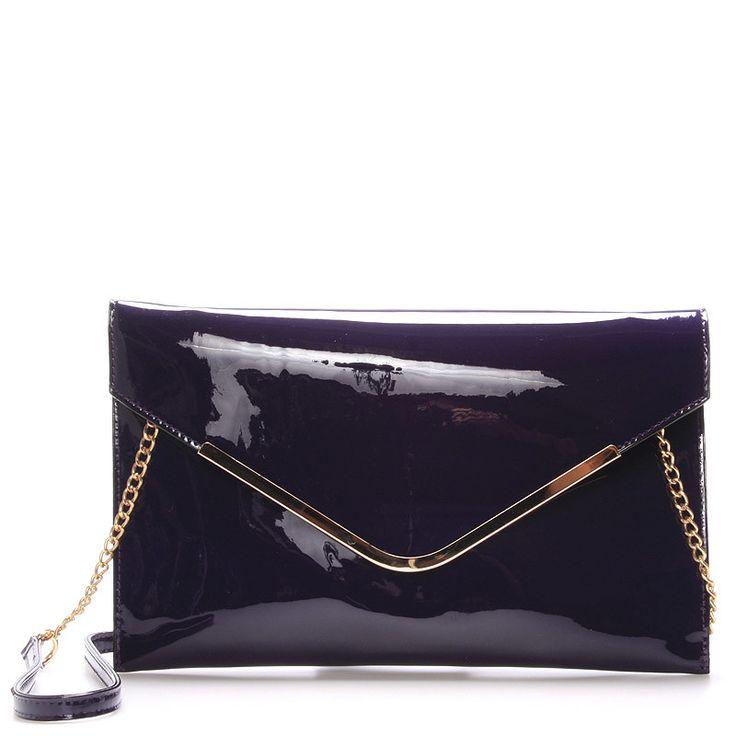#novinka #2016/2017 Luxusní fialové psaníčko - večerní kabelka David Jones v lakovaném provedení. Ideální kabelka na plesy, recepce nebo do divadla. Nenechte si ji proklouznout mezi prsty!