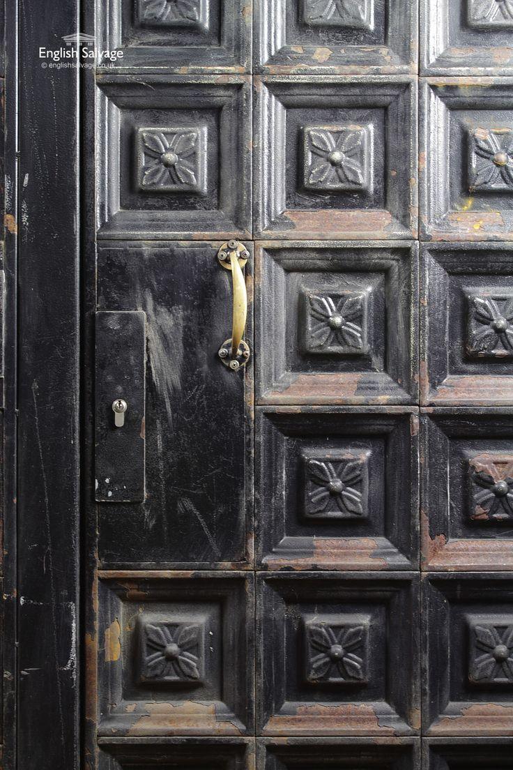 Salvaged Large Steel Asymmetric Double Doors & 237 best Reclaimed Doors images on Pinterest | Antique doors Double ...