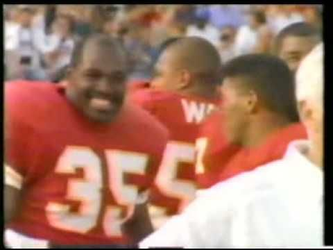 Christian Okoye leads the NFL in Rushing!  Okoye's live CHATOGRAPH chat Friday Aug. 15th at 5p.  www.chatograph.com