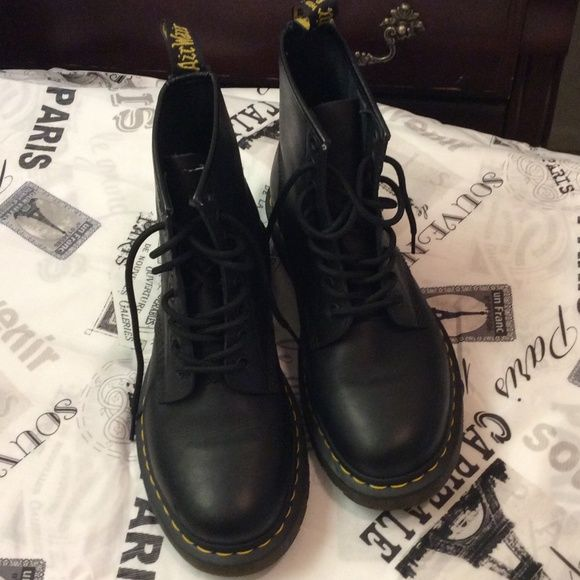 Like new Dr Martins Like new worn like 3 times but just had major back surgery not sure if I can ever lace them up again matte black Dr. Martens Shoes Lace Up Boots