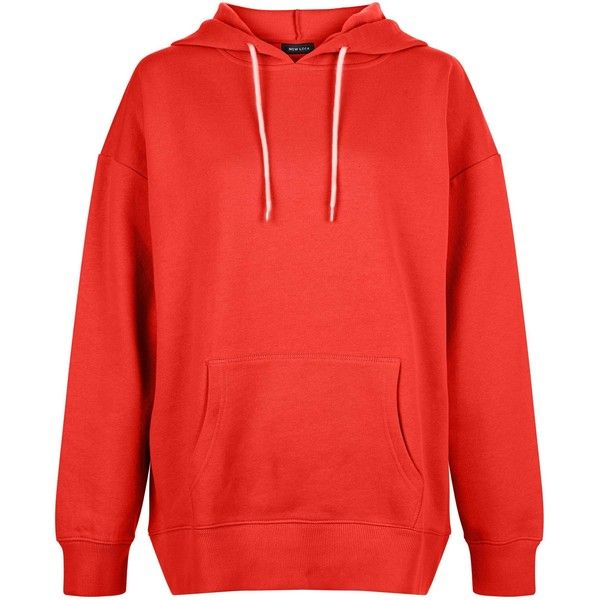 New Look Red Oversized Slouch Hoodie ($24) ❤ liked on Polyvore featuring tops, hoodies, red, slouchy tops, oversized hoodie, sweatshirt hoodies, oversized hooded sweatshirt and red hoodies