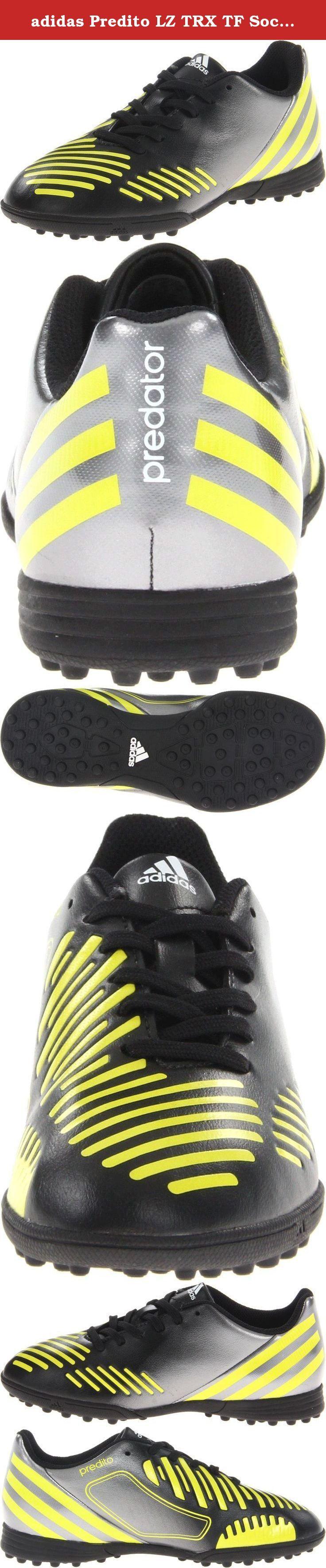 adidas Predito LZ TRX TF Soccer Cleat,Black/Lab Lime/Neo Iron Metallic,5 M US Big Kid.