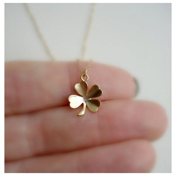 Clover Necklace In Gold, Lucky Charm, Irish Luck, Shamrock Necklace, Irish Wedding, Bridesmaid, Everyday Jewelry, Modern, Minimalist