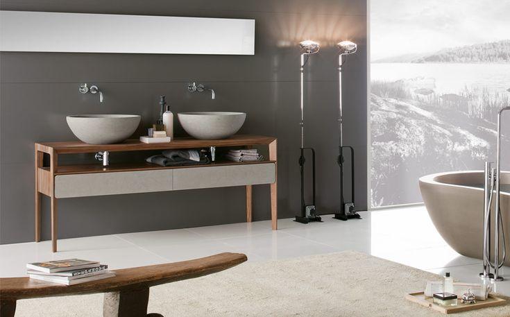 Consolle furniture Neos by Luca Martorano: #furniture #consolle #interiordesign #marblefurniture #bathroom