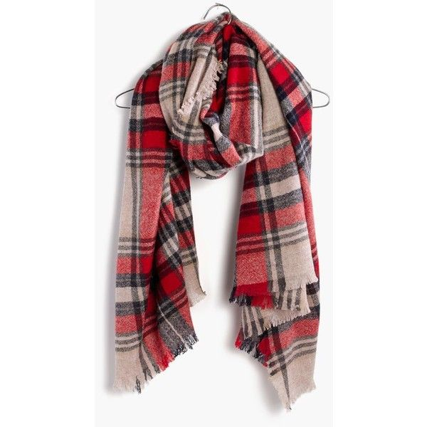 Madewell Clothing ($60) ❤ liked on Polyvore featuring accessories, scarves, bright berry, fringe scarves, plaid scarves, tartan scarves, madewell and plaid shawl