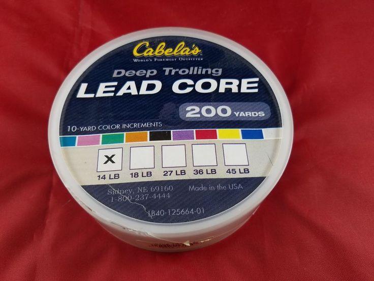 CABELA'S DEEP TROLLING LEAD CORE-10YD COLOR INCREMENTS-14LB GUAGE-200 YARDS-LINE #Cabelas