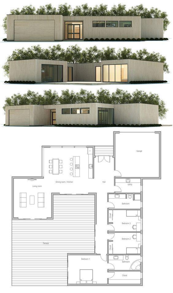 23 best Houses plans images on Pinterest Small houses, Artisan - plan de maison en v gratuit