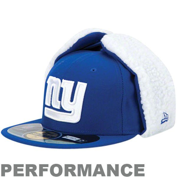 Mens New York Giants Royal Blue On-Field Dog Ear NE Tech Fitted Hat, Sale: $8.99 -  You Save: $35.00