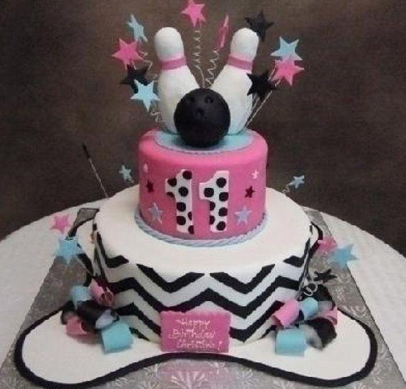 Best 25 Bowling Birthday Cakes Ideas On Pinterest
