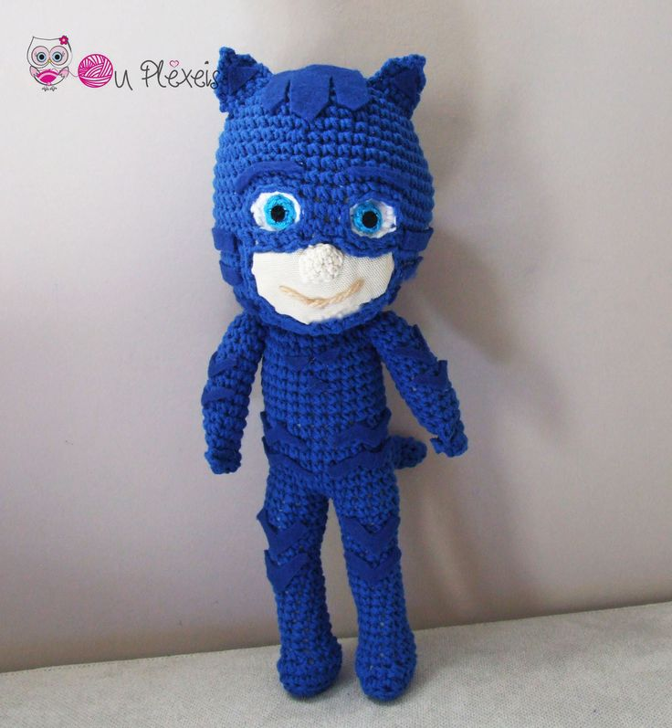 Catboy PJ Masks Doll, Crochet PJ Masks Catboy amigurumi, Boys Toy, Handmade Toy for Boys by Ouplexeis on Etsy