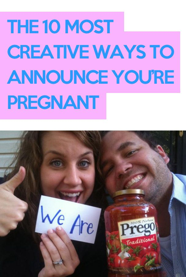 Oh my gosh, these are so creative and hilarious!!! http://lifeasmama.com/the-10-most-creative-ways-to-announce-youre-pregnant/