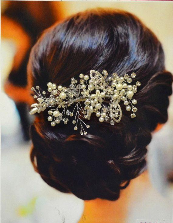 Florence Bridal Hair Comb Wedding Hair Comb Pearl by EllaWinston