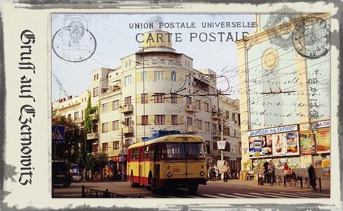 Greetings from Chernivtsi XII (Postcard Imitated)