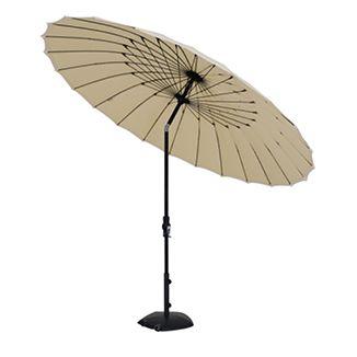 Market Umbrella W 10ft Shanghai  Black Frame canvas or charcoal canopy