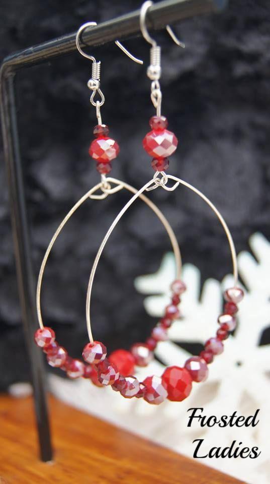 ❤Life Χειροποίητα Σκουλαρίκια φτιαγμένα με ημιπολύτιμη πέτρα Red Jade και shiny red κρύσταλλα Τσεχίας  Μοναδικά Γυναικεία Κοσμήματα