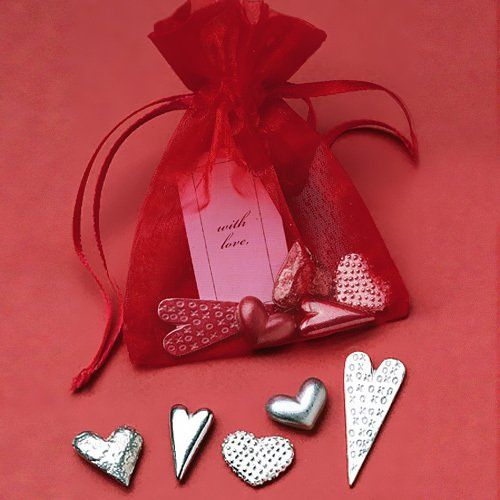 Bag of Pewter Hearts by Beau-coup
