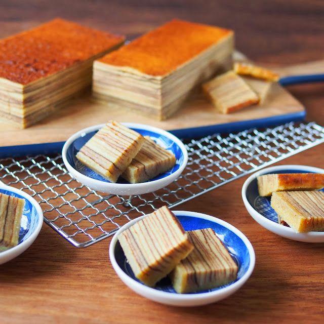 Kueh lapis legit - Spekkoek (Dutch-Indonesian layered cake). Sounds like hard work but look delish!!