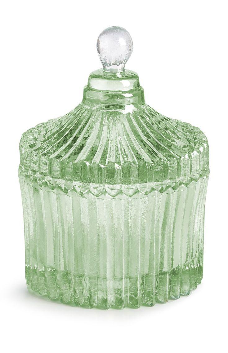 Primark - Caixa de vidro votiva verde