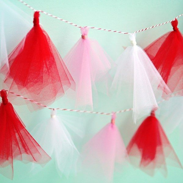 Tutu Tassel Garland - DIY #tutorial. This would dry faster when accidentally left out in rain.