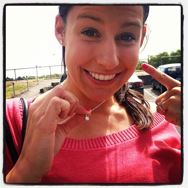 Madi Browne shows off the Liz Ellis Diamonds. Congratulations Madi! #netball