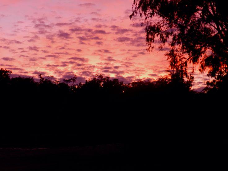 Not a sunset but a sunrise at Cobram, VIC.