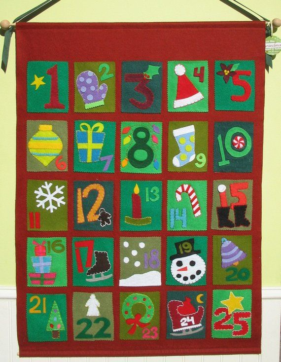 Sewn Advent Calendar Ideas : Best ideas about felt advent calendar on pinterest