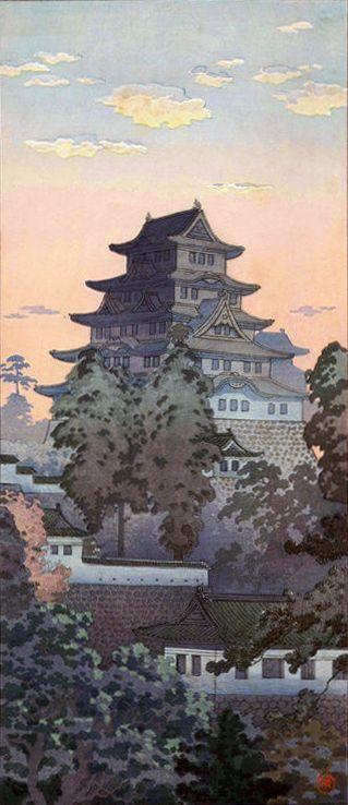 Himeji Castle, by Tsuchiya Koitsu, March 1936