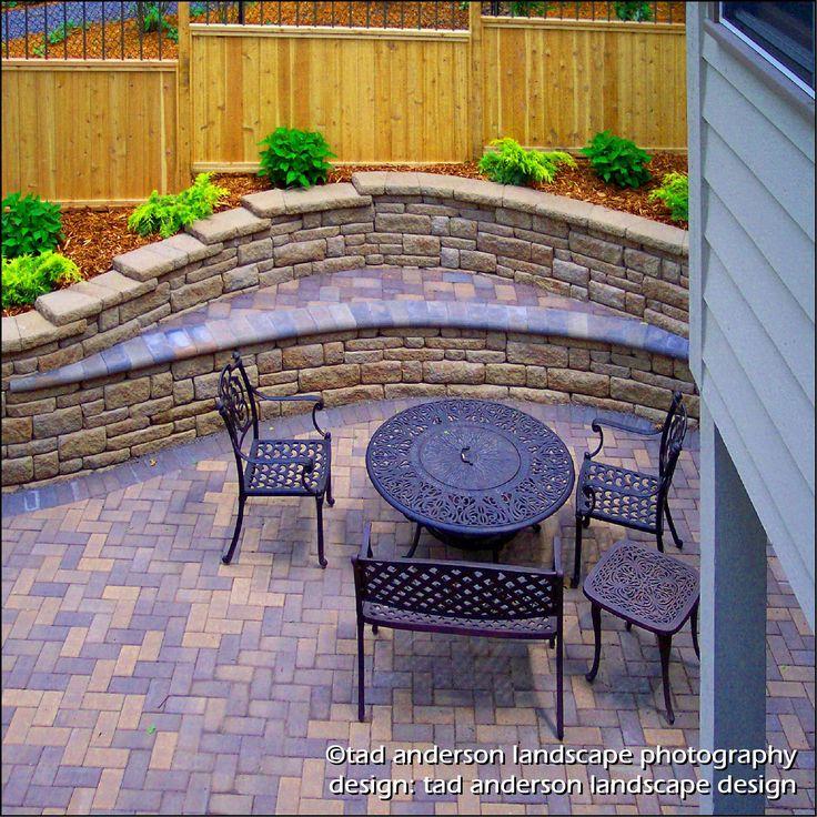 32 best retaining walls images on pinterest   backyard ideas ... - Retaining Wall Patio Design