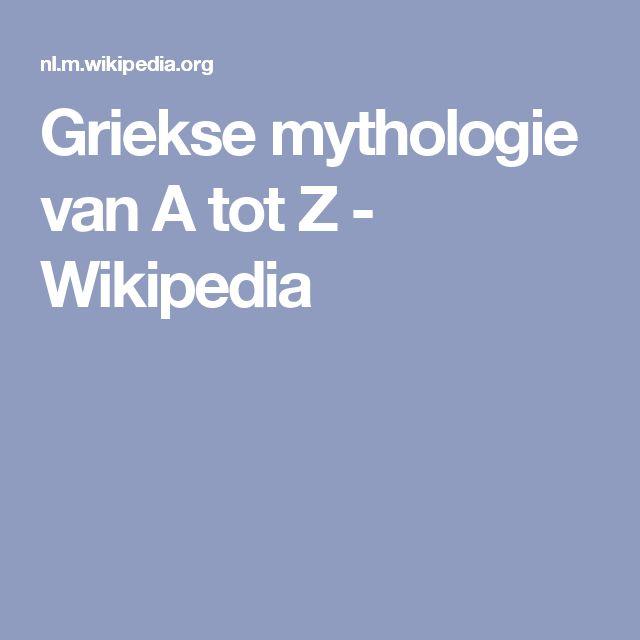 Griekse mythologie van A tot Z - Wikipedia
