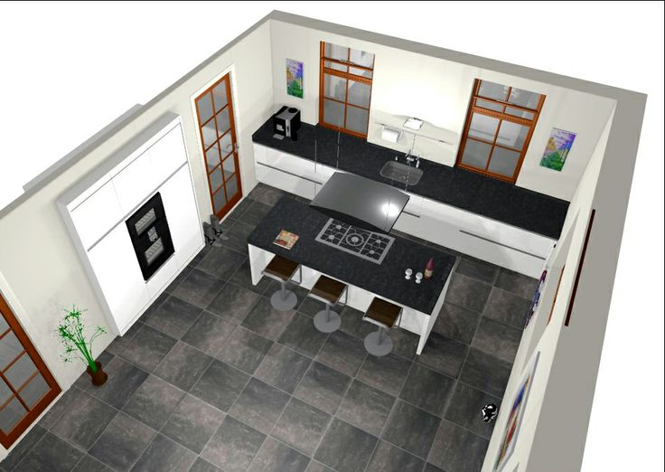 59 best 3d keukenontwerpen images on pinterest kitchen for 3d ontwerp keuken