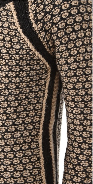 beautifully intricate and for sale with Club Monaco ~ so inspiration only but a beautiful detail. http://www.lyst.com/clothing/club-monaco-jessica-sweater-camel/