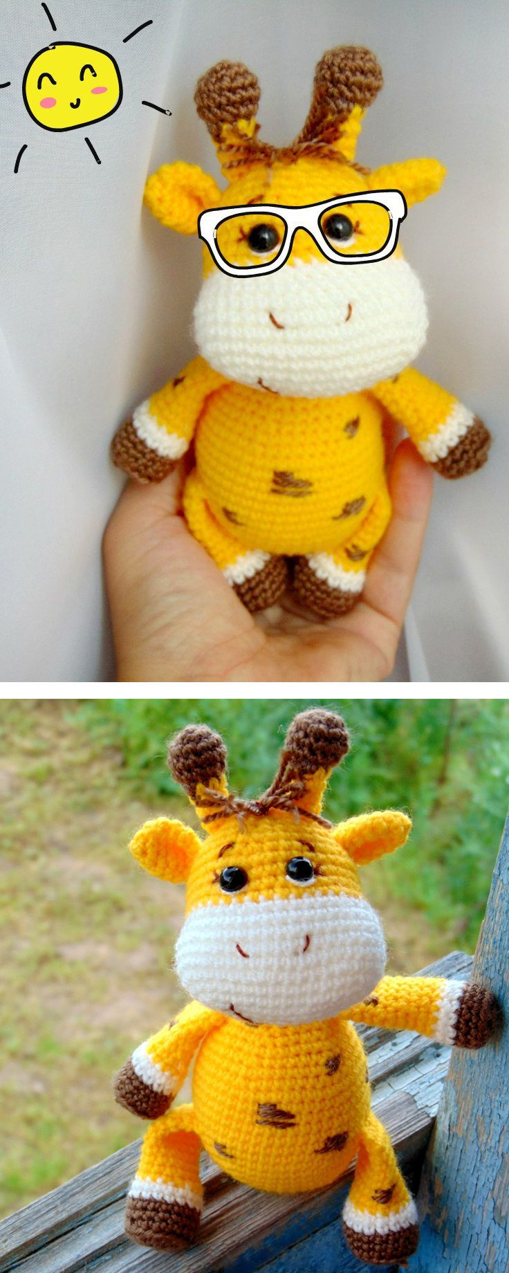 Free amigurumi pattern. Baby giraffe wishes you a great summer time!