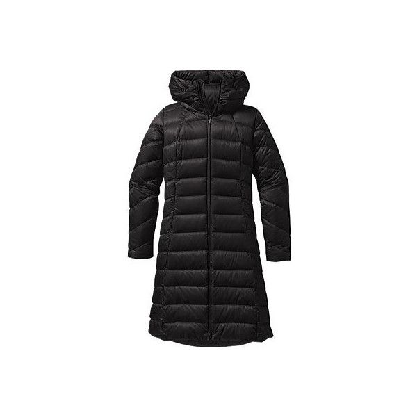 Women's Patagonia Downtown Loft Parka - Black/Black Jackets ($379) ❤ liked on Polyvore featuring outerwear, coats, black, longline coat, patagonia parka, zip coat, patagonia coats and parka coat