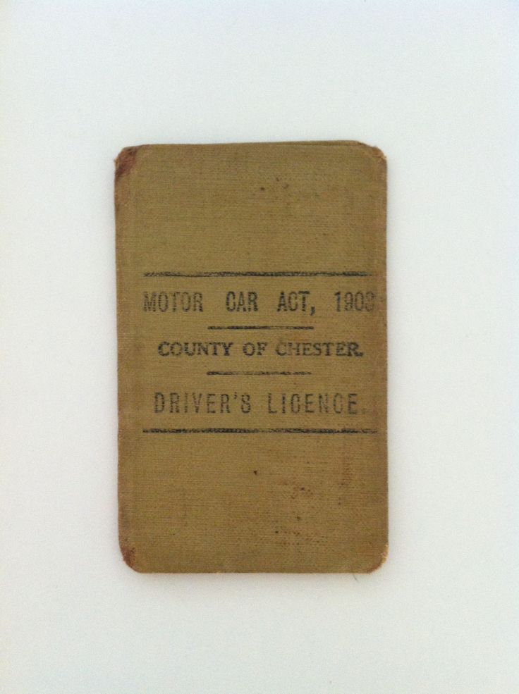 Scott's Granddads driving license