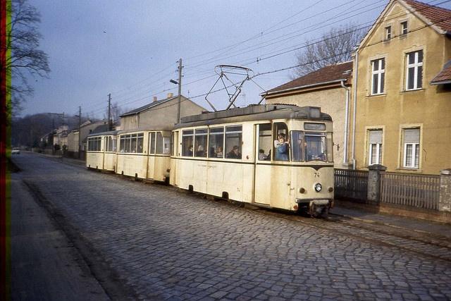 The Schöneiche Straßenbahn DDR. Jan 1990