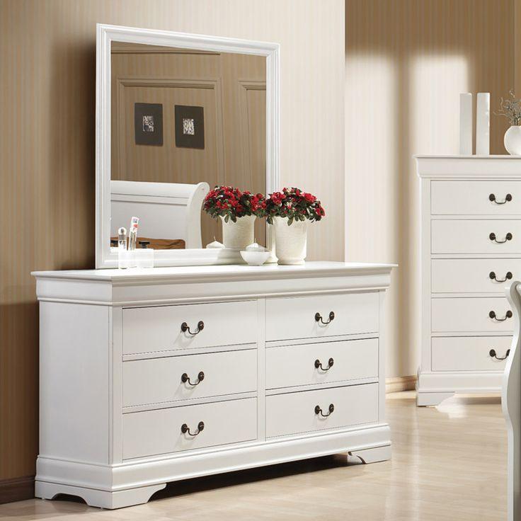 Wildon Home Louis Philip 6 Drawer Dresser With Mirror