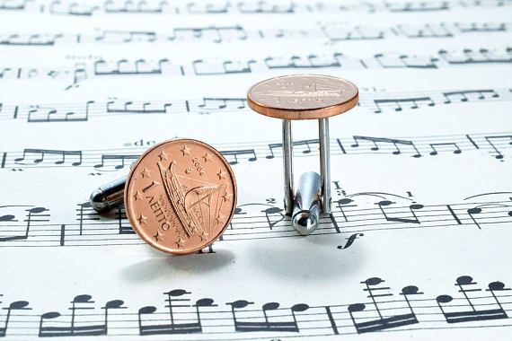 Euro Coin #Cufflinks Select EU Country Coin Cufflinks. A pair of stylish Cufflinks featuring original circulated 1 Euro cent Coins, on Silver Plated Cufflinks base. A special Gift from the EU Countries! #coincufflinks #eucufflinks #eurocufflinks #greece. https://www.etsy.com/listing/558789872/euro-coin-cufflinks-select-eu-country?ref=shop_home_active_3