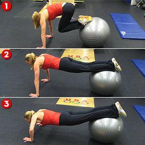 Heerlijk oefening voor bal- en buikgevoel.