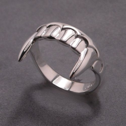 Vampire teeth ring  Sterling silver by DansMagic on Etsy, $125.00