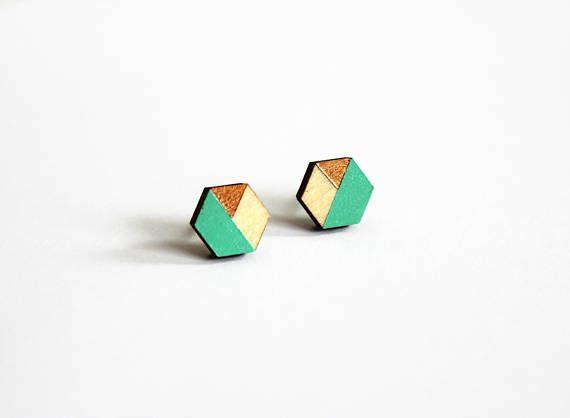 geometrische houten sieraden scandinavisch design houten