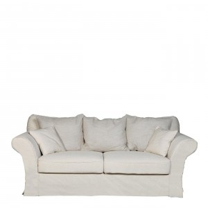 SOFA 3 PLAZAS GRIS PERLA  THREE SEATER SOFA LIGHT GRAY  #sofa