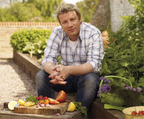 Jamie Oliver- I love him. He's really trying to change our thoughts on food! Love him!