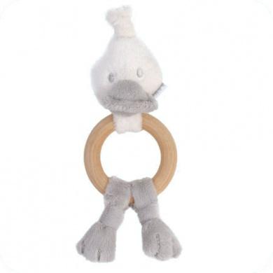 BamBam - Wooden Duck Rattle Grey  - #poshprezzi